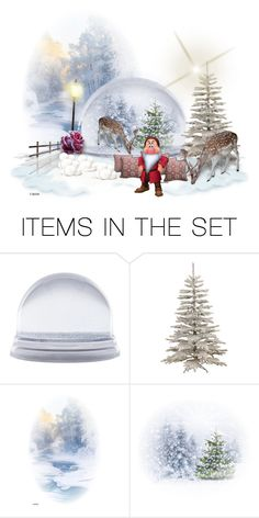 """""""Winter Wonderland"""" by sabine-713 ❤ liked on Polyvore featuring art, Winter, Christmas, LoveIt, creativesets and promobine"""