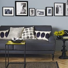 Pale Blue And Charcoal Grey Living Room Living Room Navy Blue Couches Living Room Charcoal Living Rooms, Charcoal Couch, Living Room Grey, Living Room Sofa, Living Room Decor, Grey Room, Living Room Modern, Living Room Designs, Living Room Pictures