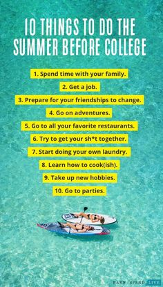 10 Things to Do the Summer Before College The best thing that you can do for yourself before being tossed into the sea of beautiful people and promising futures is prepare yourself for the little things and spend time with the people you love. Hobbies For Girls, Hobbies For Adults, Cheap Hobbies, Hobbies To Try, Hobbies That Make Money, Rc Hobbies, Hobbies And Crafts, Christmas Gifts For Girlfriend, Hobby Horse