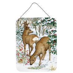Caroline's Treasures European and Western Deer by Sarah Adams Painting Print Plaque Artwork Prints, Painting Prints, Roe Deer, Metal Plaque, Hanging Rope, Westerns, Wall Art, Rust, Animals