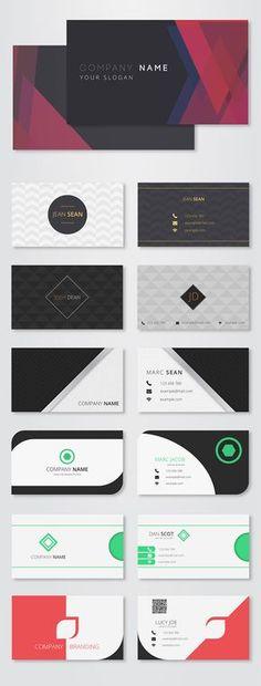スタイリッシュな雰囲気の名刺テンプレート30種類を揃えた無料ベクター素材パックFreebie: 3o Elegant & Modern Card…