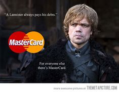 A Lannister always pays his debts…