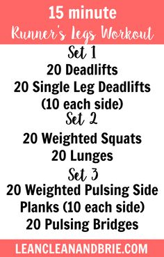Strengthen your legs in just 15 minutes with this Runner's Legs Workout.