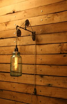vintage blue ball jar pulley light wall mount pulley wall sconce vintage perfect mason