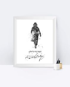 Harry Potter Severus Snape Art Print Black&White Quote Always Poster Print Wall Decor Painting Watercolor Room Decor Gift Instant Download by sPRINNT on Etsy