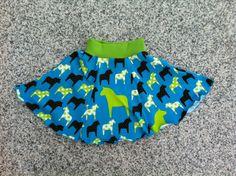 Kinderrock, Rock, Gr. 104/110, Jersey, Pferde von kleine Kuschelrobbe auf DaWanda.com