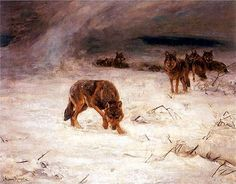 Wolves in a Storm, Alfred Kowalski