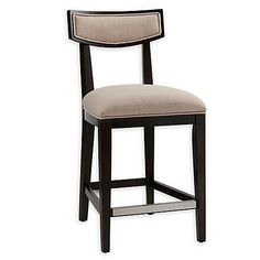 The Madison Park Brenden Counter Stool will add a refined, elegant touch to your dining decor. Features an upholstered seat, stylish open back, and rich Moroccan wood finish frame and legs. Upholstered Bar Stools, Dining Decor, Counter Stools, Bedding Shop, Fine China, Park, Moroccan, Touch, Legs