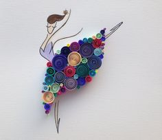"""Sweet ballerina :)  Quilled Paper Art: """"Dancing Queen"""" by SenaRuna. This quilling is created and designed by SenaRuna, please just like/share it."""