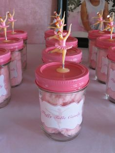 Cotton candy party favors! #ballerina #partyfavors