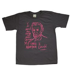 KIDS ABE LINCOLN T-SHIRT | abe lincoln facts, bio, honest abe | - Asher's favorite face
