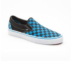 checkered blue vans