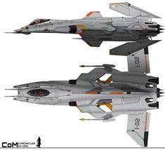 Chronicles of Man 3.0: A-22 Skoll Heavy Fighter by HandofManos on DeviantArt