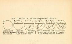 "How to draw a 5 pointed star from the public domain book, ""What to draw and how to draw it (c1913)"" by E. G. Lutz."