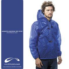 Anorak Unissex e abrigo de tempo ultra leve para proteger de ventos e chuvas leves. Ideal para trekking, escaladas, travessias, esportes náuticos, etc.
