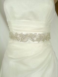Tendance Robe De Mariée 2017/ 2018 : Beadwork  Wedding Sash/Belt,Bridal Sash,Rhinestone Sash,Beaded Sash, Satin Wedding Sash