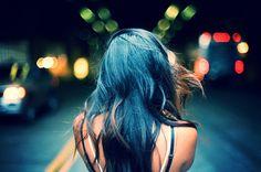 vibrant locks // hair // colour // hair dye // bright // aesthetic // grunge // pastel // blue