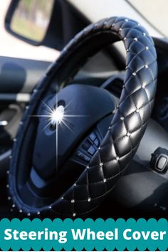 Car Interior Decor, Car Interior Accessories, Truck Seat Covers, Car Steering Wheel Cover, Girly Car, Future Car, Vroom Vroom, My Ride, Crystal Rhinestone