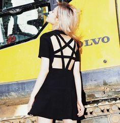 Gothique Lolita robe Punk vêtements femmes Foncé thème métal street wear harajuku goth vêtements kustom kulture noir dos Creux jupe dans Robes de Femmes de Vêtements et Accessoires sur AliExpress.com | Alibaba Group