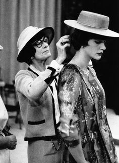 Chanel with her mannequin Paule Rizzo photographed by  Willy Rizzo -1955-
