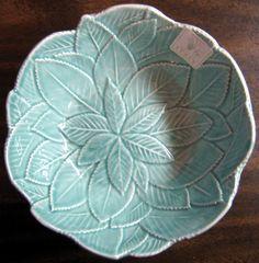 Decorative Dishes - Decorative Bowl - Aqua Textured Leaf Made in Italy Medium, $14.99 (http://www.decorativedishes.net/decorative-bowl-aqua-textured-leaf-made-in-italy-medium/)