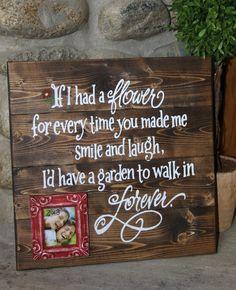 Wood barn canvas _ If I had a flower - BDD