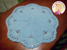 Tapete Crochê Azul Bebê
