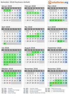 Beautiful Kalender mit Ferien und Feiertagen Sachsen Anhalt