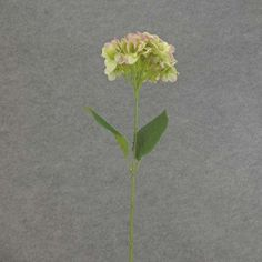 1 Pc, 28 Inch Artificial Hydrangea Stem As Great Filler For Seasonal Decor - Purple/Green