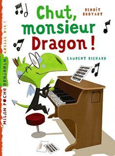 """""""Chut, monsieur Dragon !"""" Nom d'une trompette à pistons ! Monsieur Dragon est bien embêté : dès qu'il joue du piano, ses voisins viennent rouspéter. Comment faire ? Il ne sera jamais prêt pour le concert ! Premières lectures, mais adapté aussi aux enfants en bas âge."""