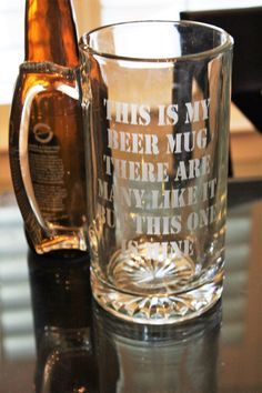 this is my beer mug marine corps beer glass marine corps glass military beer mug funny beer mug etched beer glass - Glass Beer Mugs
