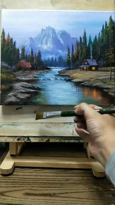 Landscape Art, Landscape Paintings On Canvas, Oil Painting Landscapes, Nature Oil Painting, Art Oil Paintings, Lotus Painting, Lake Painting, Nature Paintings, Painting & Drawing