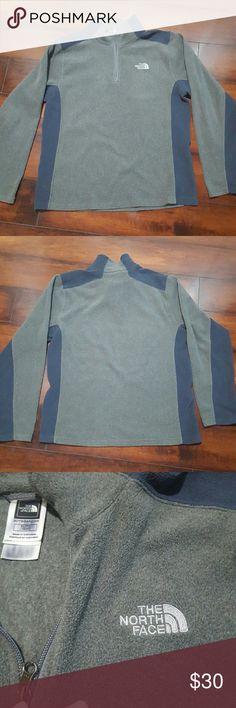 North Face fleece jacket, size XL Boy's North Face half zip fleece shirt, size XL. Grey and navy blue. North Face Tops Sweatshirts & Hoodies
