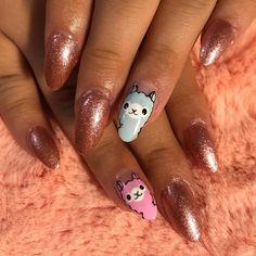 and 💕💅🏻 I love being able to focus on just my 😍 loving the system 💘… Cute Acrylic Nails, Acrylic Nail Designs, Nail Art Designs, Get Nails, Pink Nails, Hair And Nails, Tag Design, Llamas Animal, Nail Desighns