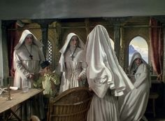 Black Narcissus (1947) won the academy award for best cinematography. Jack Cardiff used lighting and angles to create his shots for the film. He also used a muted colour palette to great effect.