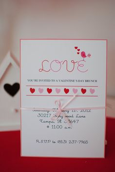 PRINTABLE Valentine's day party invitation