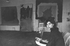 Artists in their studios. - love looking through all of these. Helen Frankenthaler
