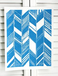 Pohoa Turquoise/White Print by SchatziBrown on Etsy