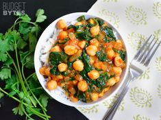 Curried Chickpeas With Spinach | 27 Easy Meals That Won't Break The Bank