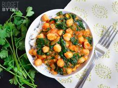 Curry-Kichererbsen mit Spinat | 25 schnelle Gerichte, die Deinen Geldbeutel im Studium schonen