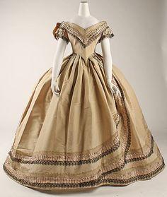 """omgthatdress: """"Dress 1860-1864 The Metropolitan Museum of Art """""""