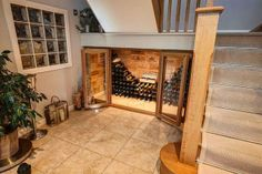 under the stairs wine cellar, luvvvv this idea