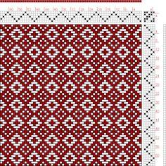 Hand Weaving Draft: July 1955 No. 2, Master Weaver, 5S, 5T - Handweaving.net Hand Weaving and Draft Archive