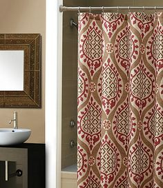 echo jaipur shower curtain #dillards $35 i have seen this in