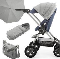Chic neutral accessories for Stokke Scoot –the Smart Urban Stroller