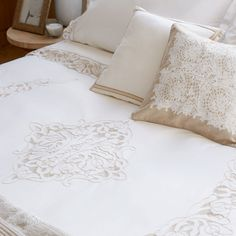 Image 4 of the product Openwork Embroidered Percale Cotton Duvet Cover
