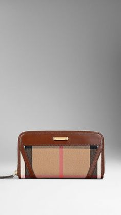 Bridle House Check Ziparound Wallet | Burberry