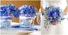 casamento azul royal e branco