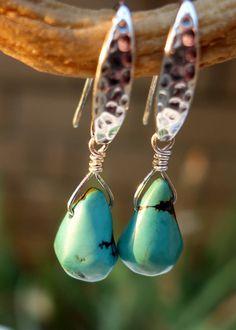 Turquoise Earrings, Turquoise Jewelry, Southwest Turquoise, Gemstone Earrings, Gemstone Jewelry, Turquoise Stone, Natural Turquoise Earrings by TheGemstoneAffair on Etsy