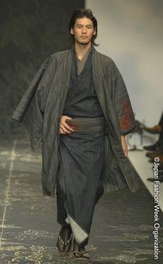 Men's denim kimono by Jotaro Saito  Style, simplicity and a bit of sexy :-)